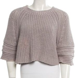 Lavender Chloe Cropped Sweater